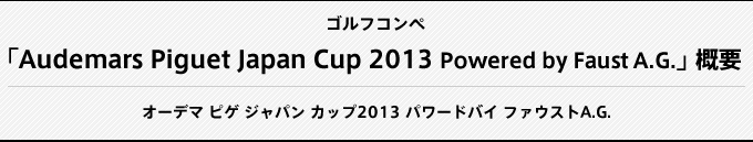 Audemars Piguet Japan Cup 2012Powered by Faust A.G.概要